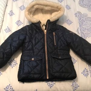 Toddler girls quilted  winter jacket